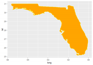 Florida Map with mapdata