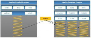 Single-threaded and Multi-threaded Processes